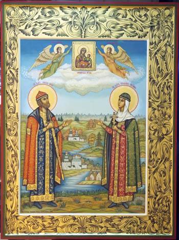 Икона св. Петра и Февронии Муромских