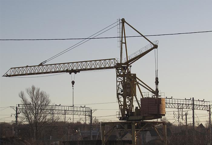 строительство эстакады, Минское шоссе, станция Внуково