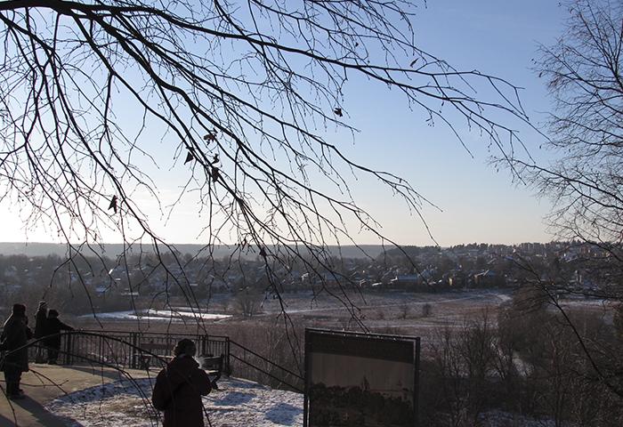 Панорама поймы Москвы-реки с горы Сторожа Январь 2016