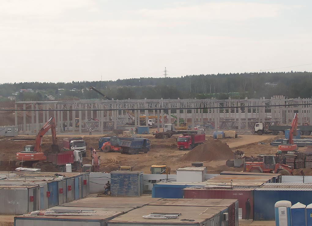 Строительство гипермаркета Глобус в Юдино