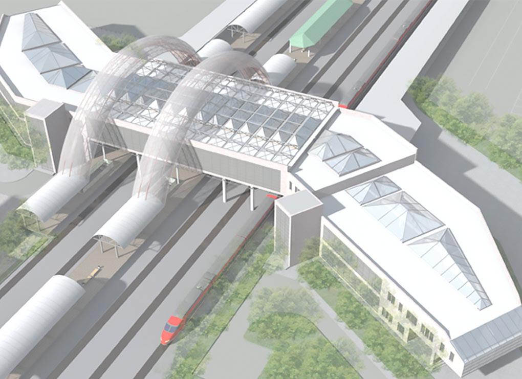 Вид на ТПУ сверху. Проект возможного ТПУ в Одинцово от компании Центральное архитектурное бюро