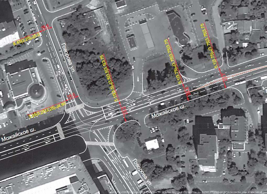 Новая схема движения на перекрестке Говорова и Можайского шоссе в Одинцово