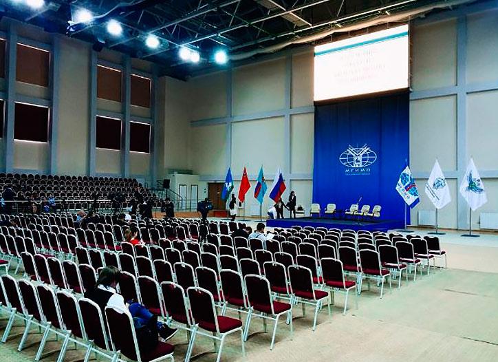 Автор: @Yanakovalevskaya - аудитория предстоящей церемонии открытия филиала МГИМО в Одинцово с участием Сергея Лаврова и Андрея Воробьева