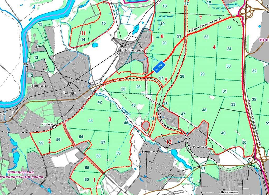 Lesa Serebrjanoborskogo lesnichestva - prirodnij zakaznik Odincovskogo Rajona