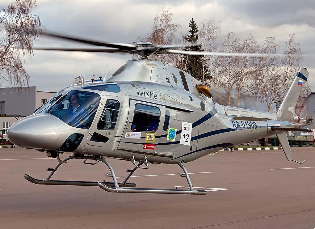 Agusta W119 Koala - максимальная скорость - 240 км. / ч. Дальность полёта - 900 км. Вместимость - 6-7 пассажиров. Экипаж - 1 пилот, 1 помощник.