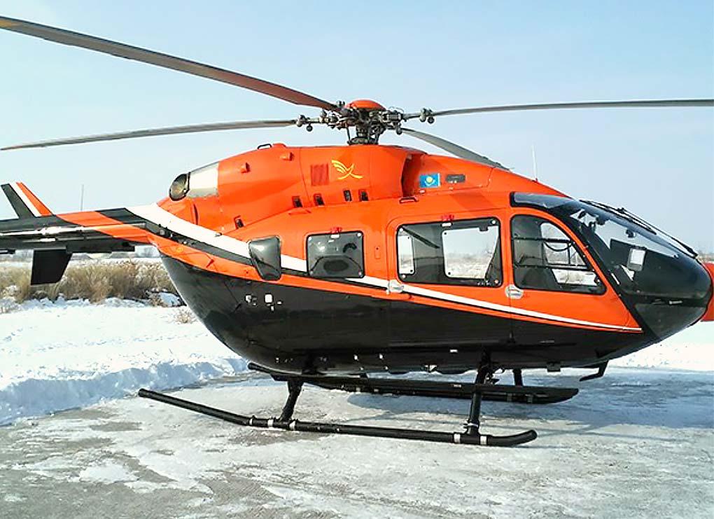 Eurocopter EC-145 - максимальная скорость - 220 км. /ч. Дальность полёта - 600 км. Вместимость - 5-7 человек. Экипаж: 1 пилот.