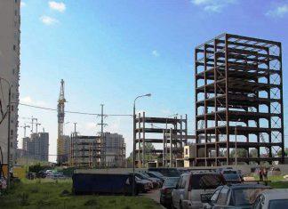 В Одинцово начался демонтаж недостроенного многоуровневого паркинга