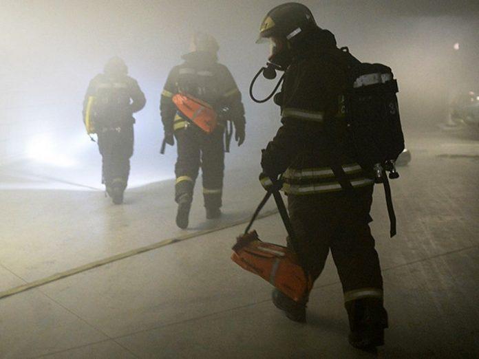 пожар в ТЦ Втлвс в Одинцово
