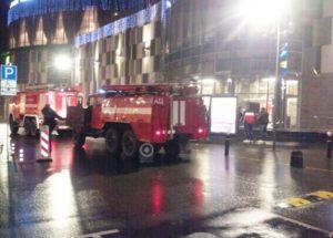 пожар в ТЦ Атлас в Одинцово