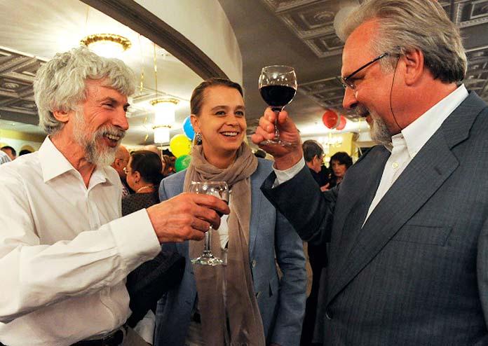 Евгения Ефимова и Павел Гусев на юбилее актера Александра Калягина