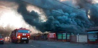 Пожар-на-рынке-Власихи-(Одинцовский-район)