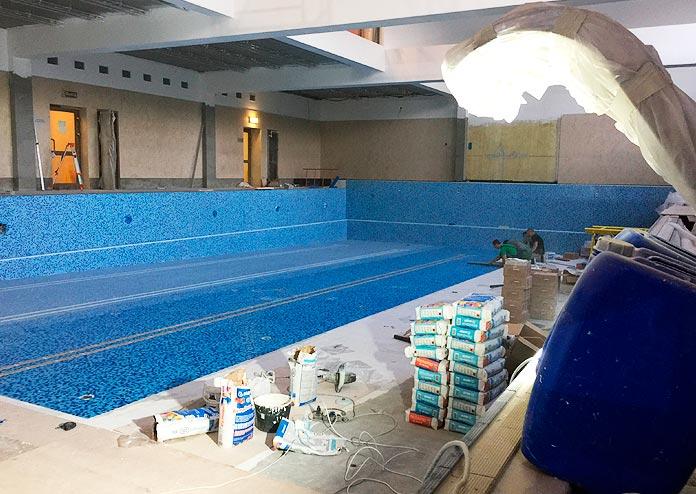 Ремонт бассейна в СВ фитнес (Одинцово)