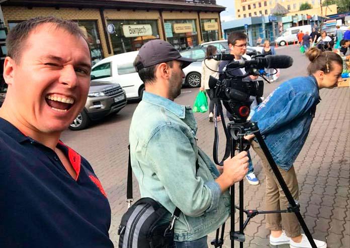 Данила Журба на съемках своих видео