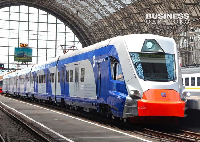 Электропоезд-ЭГ2Т-Иволга для ветки метро Одинцово-Лобня