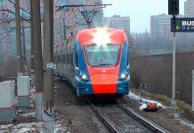 "Электропоезд ""Иволга"" на ветке метро Одинцово-Лобня"