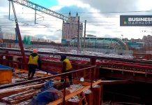 Строительство станции Славянский бульвар (МЦК-1)